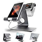 ZVE  Universal Aluminium Desktop Cell Phone Stand for Smartphone and Tablets – Space Grey Stand with 42MM case