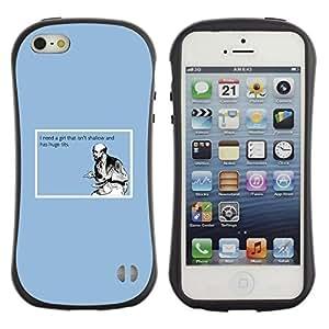 "Pulsar iFace Series Tpu silicona Carcasa Funda Case para Apple iPhone SE / iPhone 5 / iPhone 5S , Shallow Cita Chica La vida divertida Tetas Grandes Hombre Amor"""