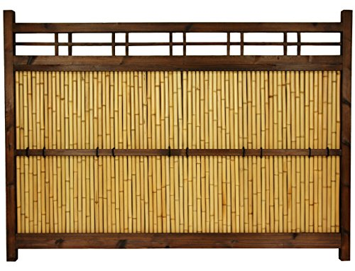 Oriental Furniture 4 ft x 5 ½ ft Japanese Bamboo Kumo FenceB