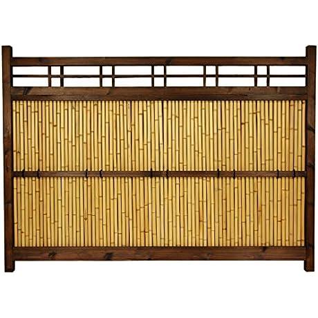 Oriental Furniture 4 Ft X 5 Ft Japanese Bamboo Kumo Fence B