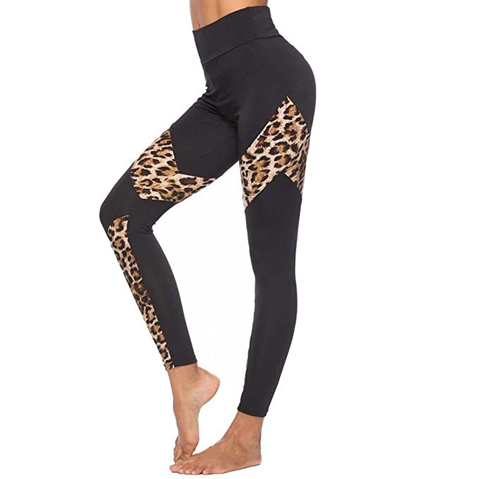 98b79cba7c2c4 LISTHA Yoga Leggings for Women Leopard Print Sports Pants Gym Running  Athletic: Amazon.ca: Clothing & Accessories