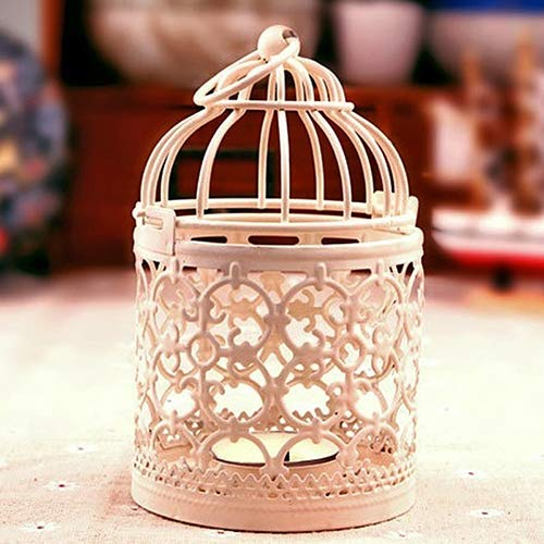 ink2055 Vintage Moroccan Style Hanging Lantern Hollow Candle Stand Holder Home Outdoor Decor