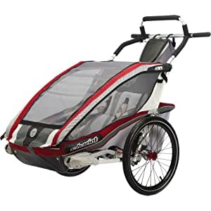 Chariot 10101304 CX2 Chariot s ultra deluxe 2 child CTS Chassis only - Burgundy grey silver