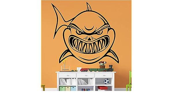 TYLPK Pegatinas de pared de tiburón feroz pegatinas de pared ...