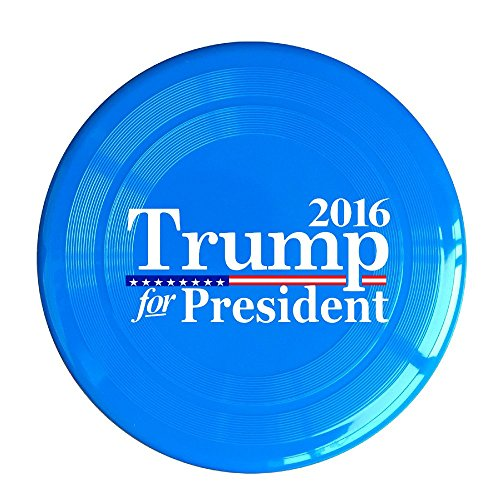 (SYYFB Unisex Trump For President 2016 Flag Mixed Outdoor Game Frisbee Light Up Flying RoyalBlue)