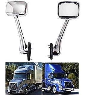for Freightliner Cascadia 08-16 QSC Truck Chrome Hood Mirror Set L /& R