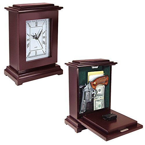 Peace Keeper Tall Rectangular Working Clock Gun Concealment Diversion (Hidden Clock)