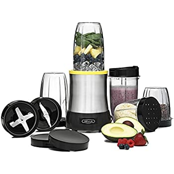 'BELLA Rocket Extract PRO Power Blender, 15 Piece set, stainless steel' from the web at 'https://images-na.ssl-images-amazon.com/images/I/51VQ23O2%2BqL._SL500_AC_SS350_.jpg'