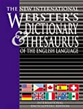 The New International Webster's Dictionary and Thesaurus of the English Language, Trident International Exhibitions Staff, 1582794413