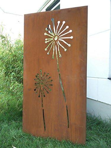 Jardín Para Valla de metal oxidado Jardín Valla Jardín Decoración edelrost para ventana pared 031654 – 1 150 * 75 * 2 cm: Amazon.es: Jardín