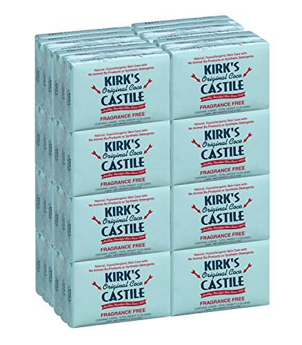 Kirk's Original Coco Castile Soap, Fragrance Free (48 Pack)