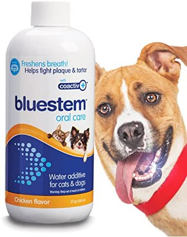 Pet Water Additive Oral Care: for Dogs & Cats Bad Breath, Dental Rinse Freshener Treats Plaque & Teeth Tartar. Dog & Cat Mouth Clean Health Treatment for Pets Drinking Bowl