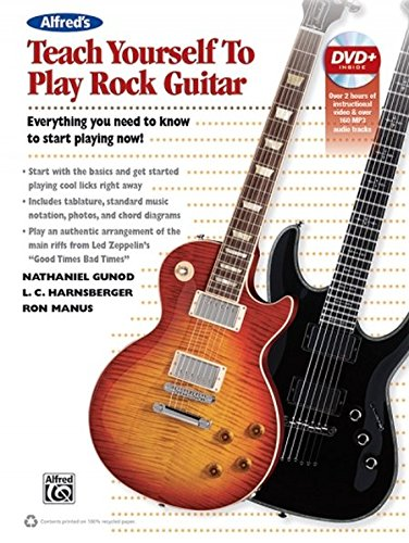 Alfred's Teach Yourself Rock Guitar: Everything You Need to Know to Start Playing Now!, Book & DVD (Teach Yourself Series)