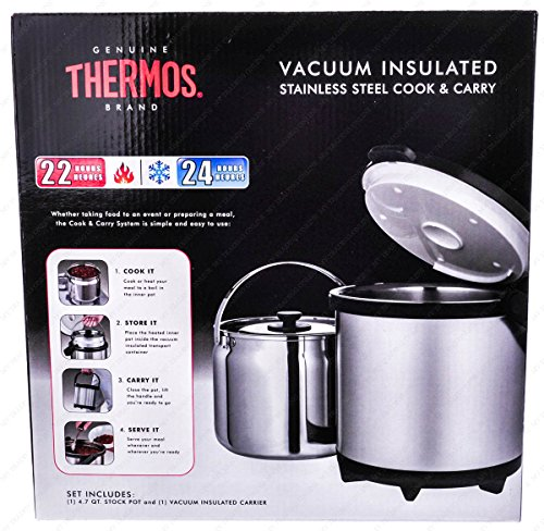 Thermos CC-4500P Thermal Cookware and Carry, 4.5 Liters by Thermos
