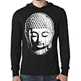 Yoga Clothing For You Mens Big Buddha Lightweight Hoodie Tee Shirt
