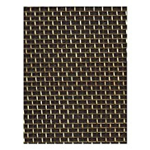 """Amaco Woven WireForm Roll 20"""" x 5 ft. Designer's Brass Mesh 18 Sq./In."""