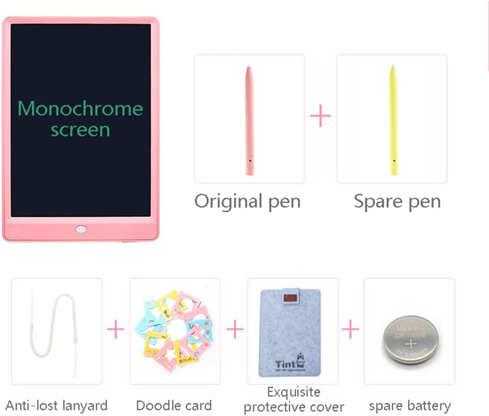 WHJ@ LCD Writing Tablet,11 Inch Colorful Digital Ewriter Electronic Graphics Tablet Portable Mini Board Handwriting Pad Drawing Tablet with Memory