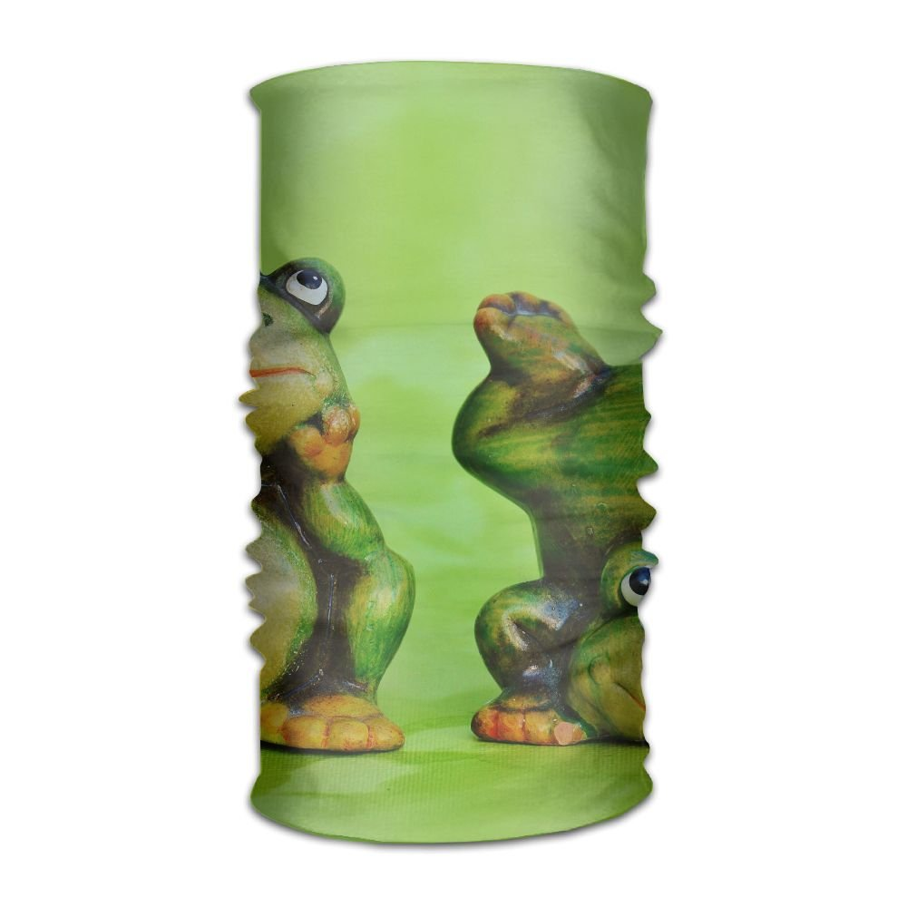 Owen Pullman Multifunctional Headwear Funny Frog Green Head Wrap Elastic Turban Sport Headband Outdoor Sweatband