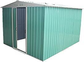 Keinode - Caseta de jardín de Metal para cobertizo, Acero galvanizado, superposición, Techo, Fieltro, Incluye Suelo