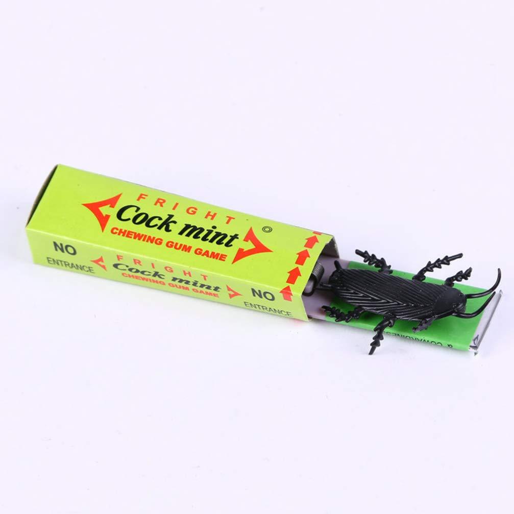 colore casuale Amosfun 10pcs scarafaggio gomma da masticare scarafaggio halloween giocattoli scherzo gomma scherzo prop per bomboniere festa di halloween sciocco