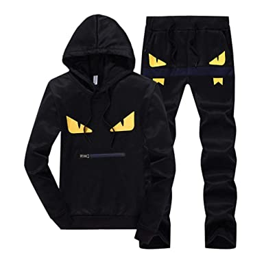 366e15230f3 Musnow Men s Hoodies Suits Tracksuits Hooded Slim Fit Jogging Suits Sweat Sports  Casual Outwear Suits at Amazon Men s Clothing store