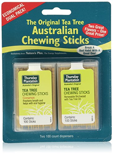 (Thursday Plantation Tea Tree Cinnamon & Original Chewing Sticks Dual Pack (200 Counts))
