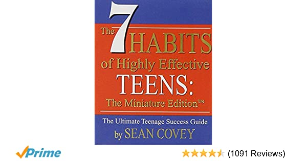 The  Habits Of Highly Effective Teens The Miniature Edition Mini Book Miniature Editions Sean Covey  Amazon Com Books