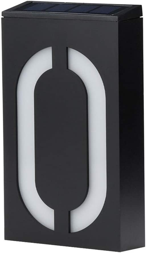 Personalisierte Beleuchtete wasserdichte Solar-Hausnummerntafel F/ür Den Au/ßenbereich Nummer,0 Leuchtende Adressschilder Gmsqj Hintergrundbeleuchtete LED-Hausnummern