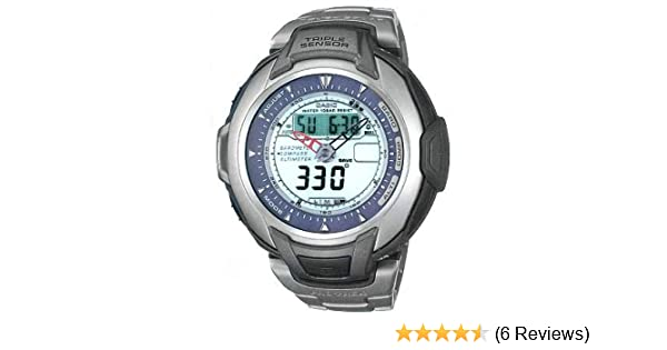 Amazon.com: Casio Solar Powered Titanium Triple Sensor Pro Trek PRG60T-7AV: Casio: Watches