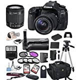 Canon EOS 80D Digital SLR Camera w/ EF-S 18-55mm Bundle includes Camera, Lenses, Filters, Bag, Memory Cards, Remote, Power Grip, Tripod ,and More - International Version