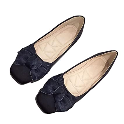 893807983fe8d Amazon.com: August Jim Women's Wide Width Flat Shoes - Comfortable ...