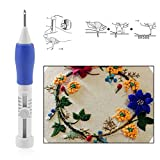 LUYEE Punch Embroidery Stitching Needle Pen Kits Magic Russian Cross Accessories Tools Set for DIY Embroidery 3PCS