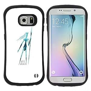 "Pulsar iFace Series Tpu silicona Carcasa Funda Case para Samsung Galaxy S6 EDGE / SM-G925(NOT FOR S6!!!) , Zombie Tronos hombre blanco extranjero Art Dibujo"""