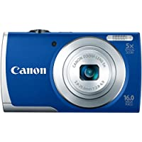 Canon PowerShot A2600 IS 16.0 MP Digital Camera with 5x Optical Zoom and 720p Full HD Video Recording (Blue)