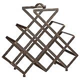 Rivet Modern Geometric Iron Wine Rack, 17.5″H, Black Review