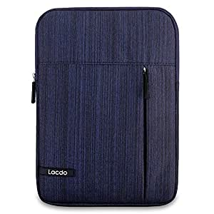 Lacdo Tablet Sleeve Case Compatible 11 inch New iPad Pro 2018 | 10.5 Inch iPad Pro | 9.7 inch New iPad | iPad Air 2 | iPad 4, 3, 2 | Samsung Galaxy Tab 10.1 Inch Protective Bag Water Repellent, Blue