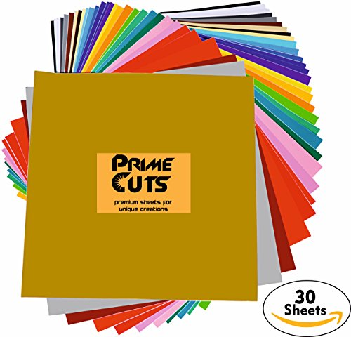 Permanent Adhesive Backed Vinyl 30 SHEETS - PrimeCuts USA - 30 SHEETS 12
