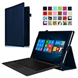 Fintie Microsoft Surface Pro 4 Case - Premium PU Leather Folio Stand Cover with Stylus Holder for Surface Pro 4 12.3-Inch Tablet, Compatible with Surface Pro 4 Type Cover Keyboard, Navy