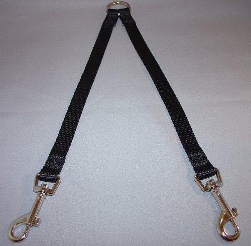 OmniPet 2 Way Nylon Dog Coupler, Black, 5/8'' x 26''