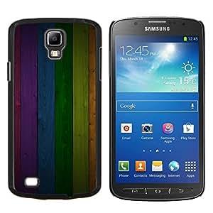 Planetar® ( Modelo de la textura del panel del arco iris Líneas ) Samsung Galaxy S4 Active i9295 Fundas Cover Cubre Hard Case Cover