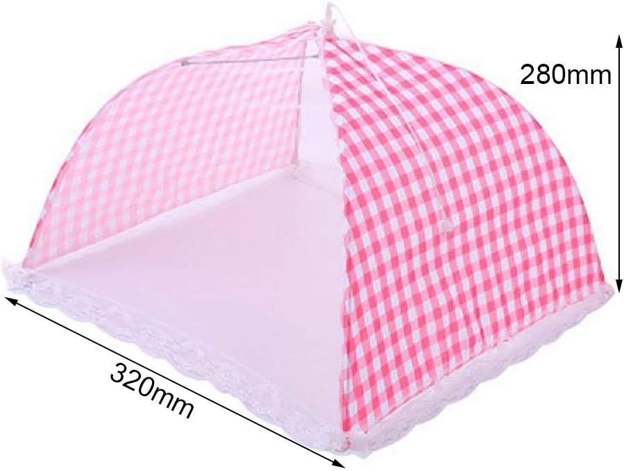 RainBabe Repas Couverture Anti-Mouches Moustiques Table Cuisine Outils de Cuisine Cuisine Charmant Dentelle Hexagon Gaze Style Parapluie Respirante