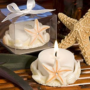 starfish design wedding favors candles tealight holders