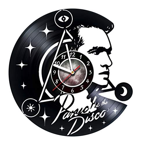 AMARAroom Panic at The Disco - Vinyl Record Wall Clock - Poster - Ornament - Decorations - Sticker - Party - Gift Ideas for Boys and Girls, Friends, Men and Women, Teens - Gift for him - Gift for her -