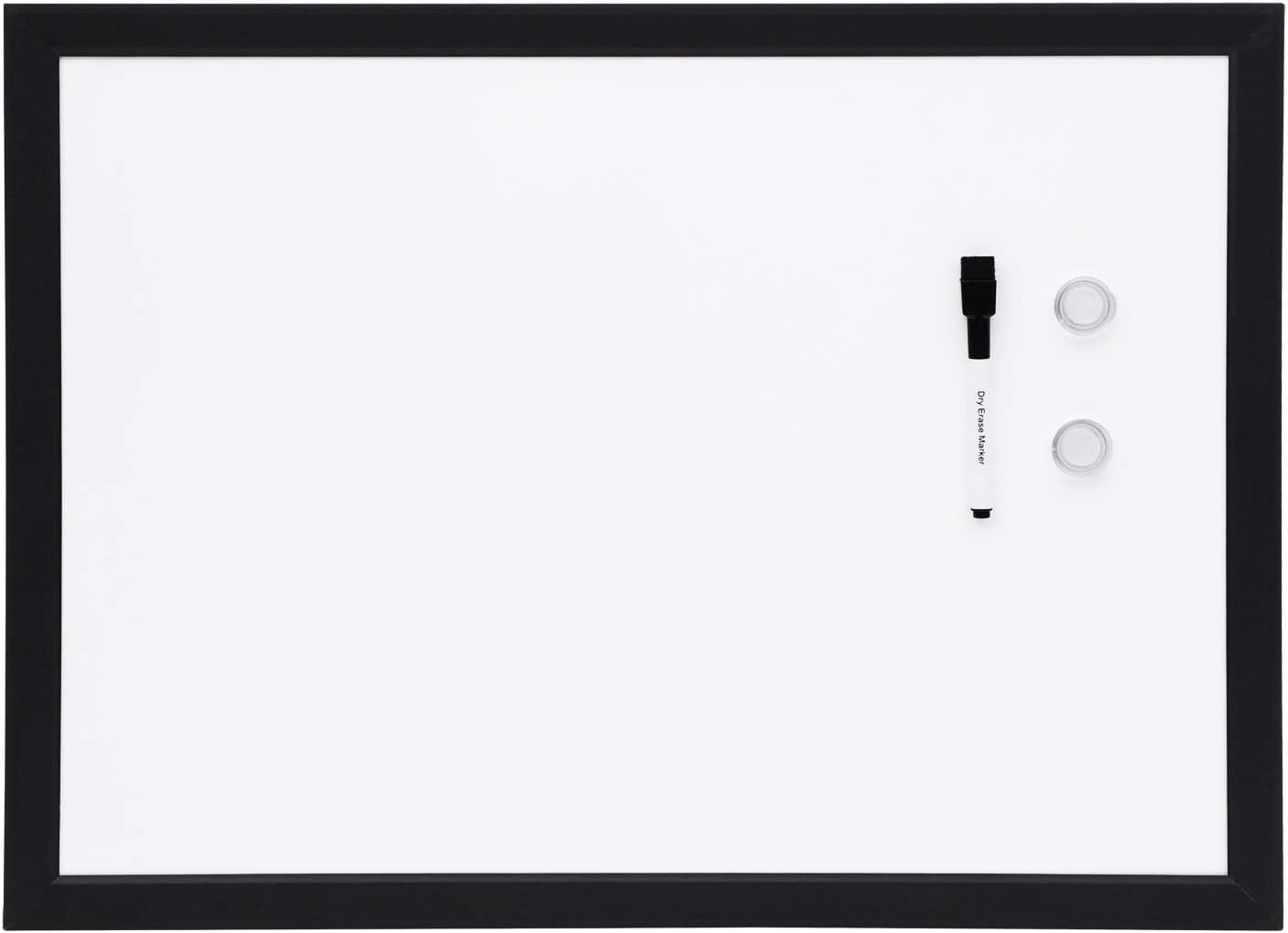 AmazonBasics Magnetic Framed Dry Erase White Board, 17 x 23 Inch