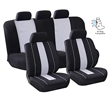 Cream Beige Leather Look Car Seat Covers Set For Skoda Fabia Estate 2001-2007