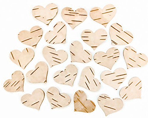 Tin Roof Treasure Natural Birch Bark Paper Hearts, Pack of 50 -