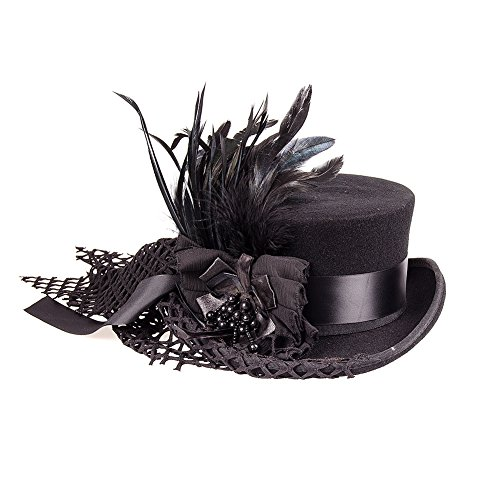 Hawkins Women's Dressage Top Hat With Veil (Black) (Dressage Top Hat)