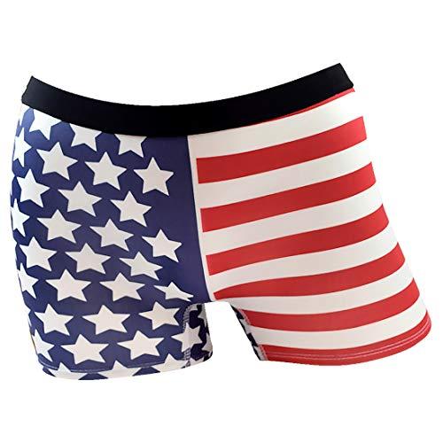 Santa Playa Signature SP Super Soft Breathable Boyshort Bottoms Boyleg, Fun Print Women's Underwear :: USA (XS, Cream)