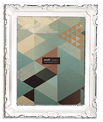Porta Retrato Branco Antique para Fotos 20x25cm Mart