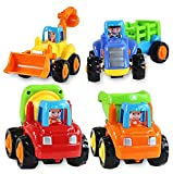 Catterpillar Unbreakable Construction Automobiles Toy Set, Multi Color (Pack of 4)